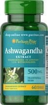 Puritan's Pride Ashwagandha Standardized Extract 500 mg - 60 kapsułek  NEW!!