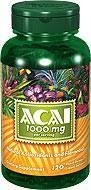 Puritan's Pride Acai 1000 mg – 120 tabletek - 50 % TANIEJ! NEW!