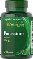Chelated Potassium (Potas) 99 mg – 250 tabletek - BRAK
