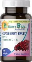 Cranberry (żurawina) Fruit Concentrate Plus Vitamins C + E - 100 tabletek  BRAK