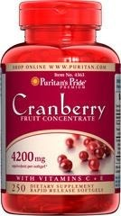 Cranberry (żurawina) Fruit Concentrate with C & E 4200 mg - 250 tabletek BRAK