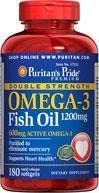 Double Strength Omega-3 Fish Oil 1200 mg - 180 tabletek - BRAK