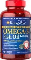 Double Strength Omega-3 Fish Oil 1200 mg - 90 tabletek - BRAK