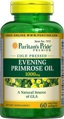 Evening Primrose Oil (Olej z wiesiołka) 1000 mg with GLA - 60 tabletek - BRAK