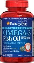 Extra Strength Omega-3 Fish Oil 1500mg - 60 kapsułek - BRAK