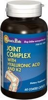 Joint Complex with Hyaluronic Acid (Kwas hialuronowy), Witamina D  & Witamina K2 - 60 tabletek  BRAK