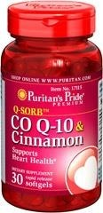 Koenzym Co Q-10 120 mg plus Cinnamon (Cynamon) 1000 mg - 30 kapsułek BRAK