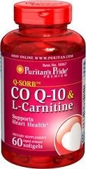 Koenzym Q-10 30 mg plus L-Carnitine (l-karnityna + witamina E) 250 mg - 60 tabletek BRAK