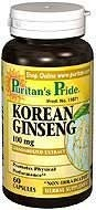 Korean Ginseng (Żeń-szeń) Standardized 100 mg - 60 tabletek BRAK