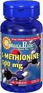 L-Methionine (Metionina) 500 mg - 50 tabletek BRAK