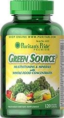 Multiwitaminy Green Source® Multi-Vitamin & Minerals - 120 tabletek BRAK