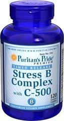 Multiwitaminy Stress Witamin B-Complex + Witamina C-500 Timed Release - 120 tabletki BRAK