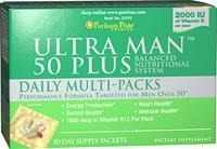 Multiwitaminy Ultra Man™ 50 Plus Daily Multi-Packs - 30 saszetek - BRAK