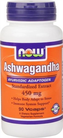 NOW® Foods Ashwagandha 4.5 Pct. Extract 450 mg. - 90 Vegetarian kapsułek - BRAK