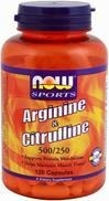 NOW® Foods L-Arginina 500mg with Citrulline 250 mg 120 tabletek - BRAK