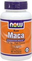 NOW® Foods Raw Maca 750 mg / 4,500 mg - 90 vegi kapsułek - BRAK