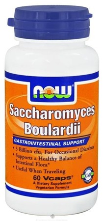 NOW® Foods  Saccharomyces Boulardii 5 Billion CFU - 60 Vegi kapsułek BRAK