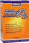 NOW® Foods Witamina B-12 2000 mcg Instant Energy Packets - 75 szaszetek  BRAK