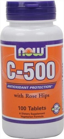 NOW® Witamina C-500 plus Rose Hips - 100 tabletek BRAK