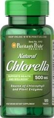 Natural Chinese Chlorella 500 mg - 120 tabletek - BRAK