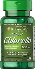 Natural Chinese Chlorella 500 mg - 60 tabletek -BRAK