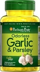Odorless Garlic (czosnek) & Parsley 500 mg / 100 mg - 250 kapsułek  BRAK