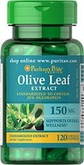 Olive Leaf Standardized Extract 150 mg - 120 tabletek - BRAK
