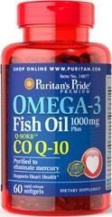 Omega 3 Fish Oil 1000 mg Plus Co Q-10 - 60 kapsułek BRAK