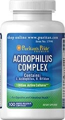 Probiotic Acidophilus Complex (probiotyki) 1 billion - 100 kapsułek - BRAK