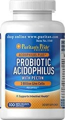 Puritan's Pride Probiotic Acidophilus  (probiotyki + pektyny) with Pectin 3 billion - 100 kapsułek - 70 % TANIEJ! NEW!