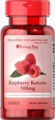 Raspberry Ketones  (Ketony z malin) 500 mg - 60 Tabletek BRAK!