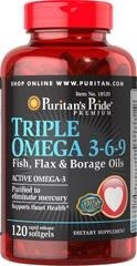 Triple Omega 3-6-9 with Evening Primrose Oil - 120 kapsułek BRAK