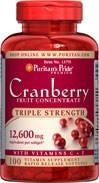 Triple Strength Cranberry (żurawina) Fruit Concentrate 12600 mg - 100 tabletek BRAK