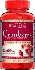 Triple Strength Cranberry (żurawina) Fruit Concentrate 12600 mg - 200 tabletek BRAK