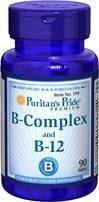 Witamina B - Complex (protease papaia) and Witamina B 12 - 90 tabletek BRAK
