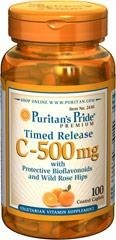 Witamina C - 500 mg with Bioflavonoids & Rose Hips Time Release - 100 tabletek BRAK