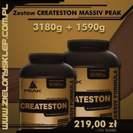 Zestaw PEAK Createston Massive (Upgrade 2012) - 3200 gram + 1600 gram BRAK