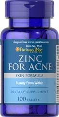 Zinc for Acne - 100 tabletek BRAK